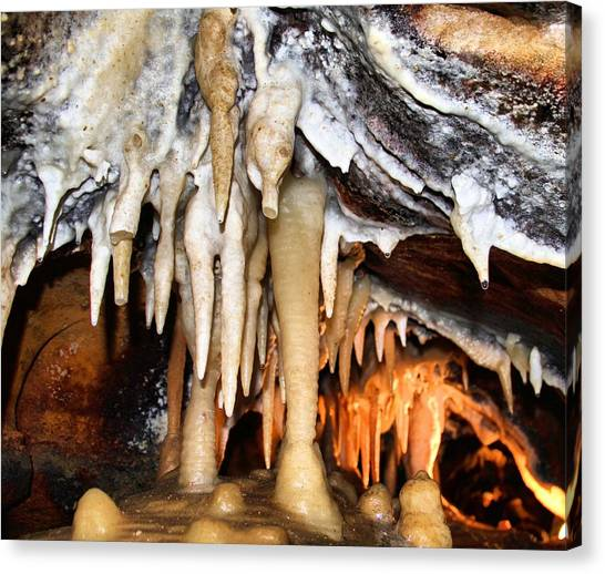 Stalagmites Canvas Print - Ohio Caverns by Dan Sproul