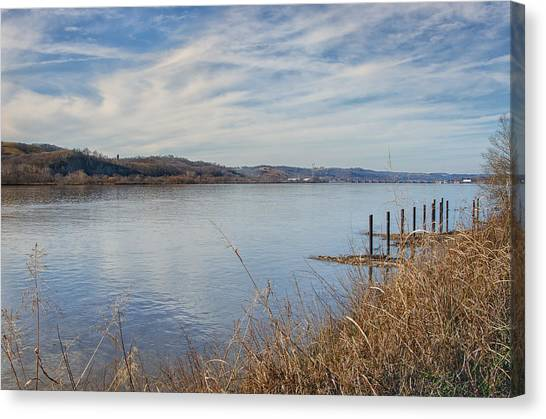 Ohio Valley Canvas Print - Ohio River Valley by Diana Boyd
