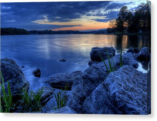 Ohio Spring Sunset Canvas Print