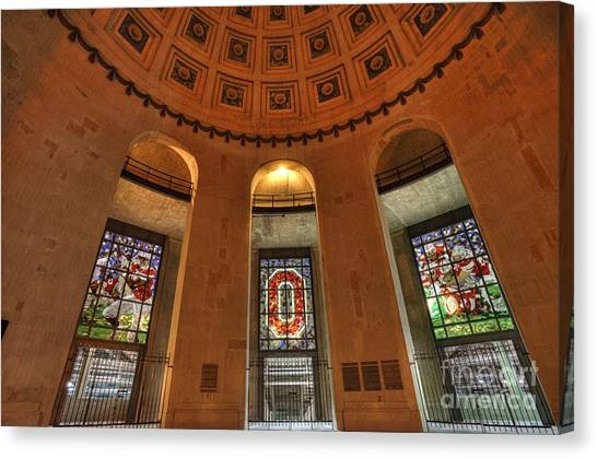 Ohio University Canvas Print - Ohio Stadium by David Bearden