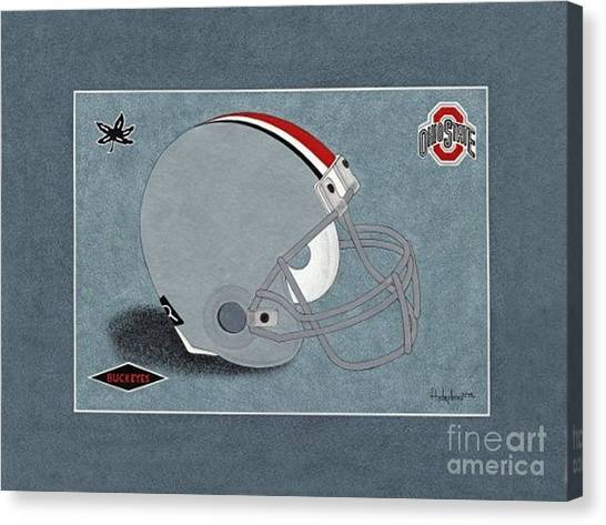 Ohio Buckeyes Helmet T-shirt  Canvas Print