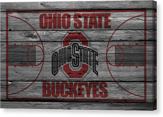 Basketball Teams Canvas Print - Ohio State Buckeyes by Joe Hamilton