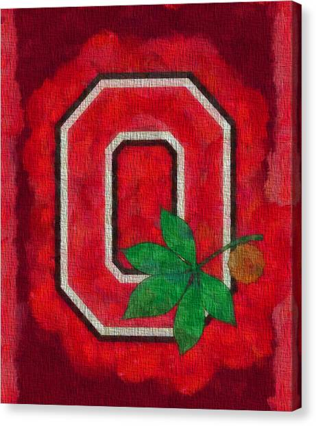 College Canvas Print - Ohio State Buckeyes On Canvas by Dan Sproul