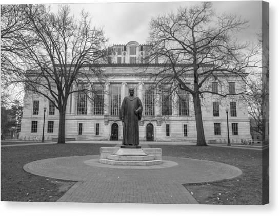 Ohio State University Canvas Print - Ohio State University Library  by John McGraw