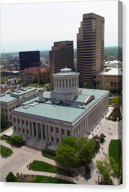 Ohio Statehouse Canvas Print by Sanford