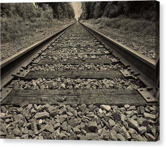 Train Conductor Canvas Print - Ohio Train Tracks by Dan Sproul