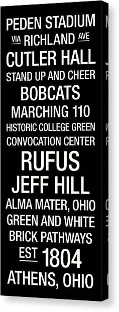 Ohio University Canvas Print - Ohio University College Town Wall Art by Replay Photos