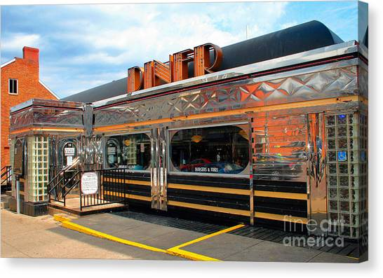 Ohio University Court Street Diner Canvas Print