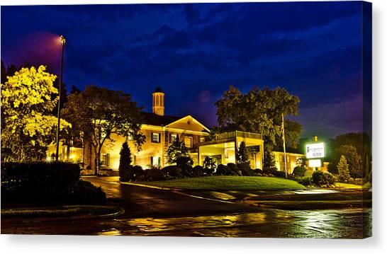 Ohio University Canvas Print - Ohio University Inn by Shirley Tinkham