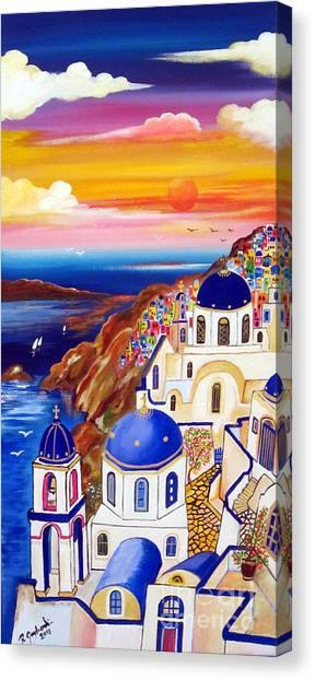 Oia Santorini Greece Canvas Print