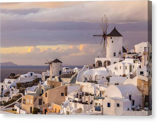 Oia Windmill Canvas Print