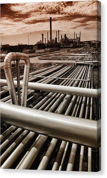 Oil And Gas Industry Canvas Print