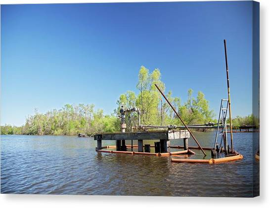 Atchafalaya Basin Canvas Print - Oil And Gas Industry by Jim West