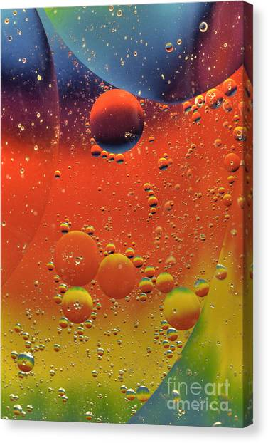 Oil And Water Canvas Print