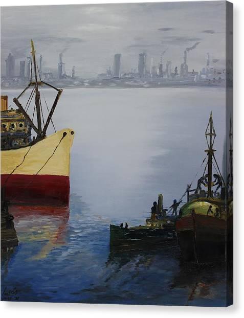 Oil Msc 025  Canvas Print