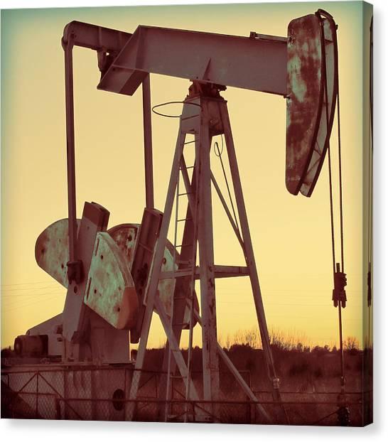 Oil Pump Canvas Print