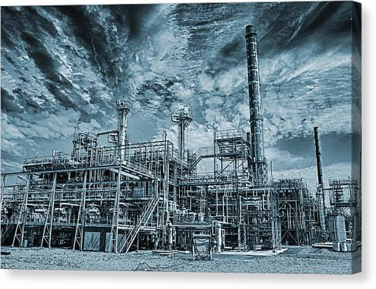 Oil Refinery In High Definition Canvas Print