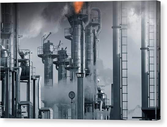 Oil Refinery Power And Energy Canvas Print