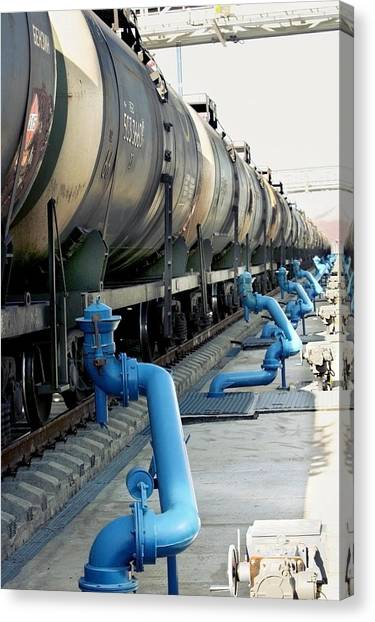 Primorsky Krai Canvas Print - Oil Transport Train by Science Photo Library