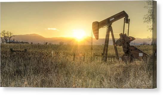 Oil Well Pump Canvas Print