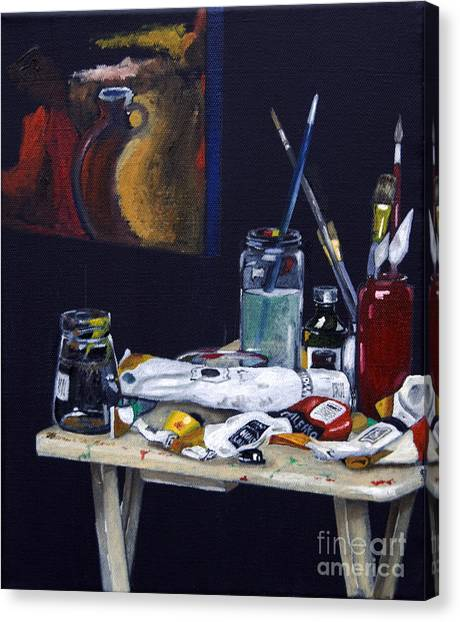 Oils Still Life Canvas Print
