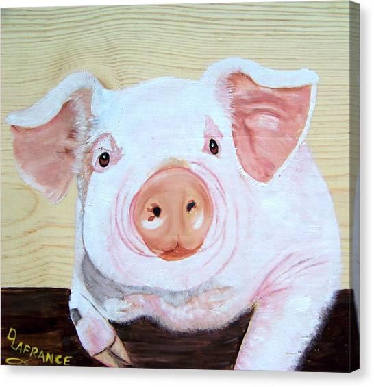 Pig Farms Canvas Print - Oink by Debbie LaFrance