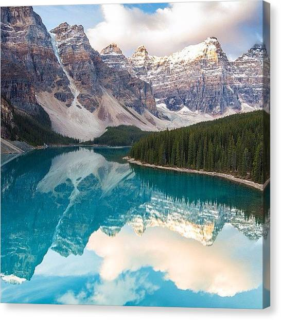 Wilderness Canvas Print - Moraine Lake Reflections by Tiffany Wuest