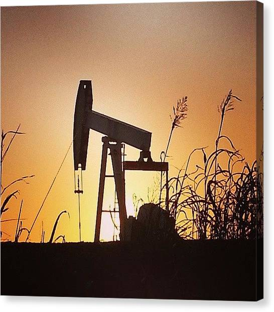 Oil Rigs Canvas Print - #ok #deblew #oil #rig #drilling by Deb Lew