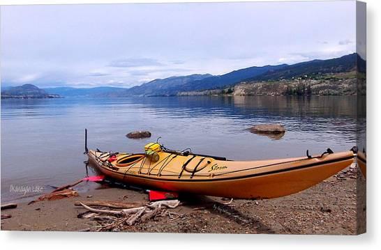 Okanagan Lake - Kayaking Canvas Print by Guy Hoffman