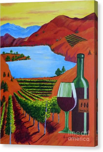 Okanagan Wine Country Canvas Print