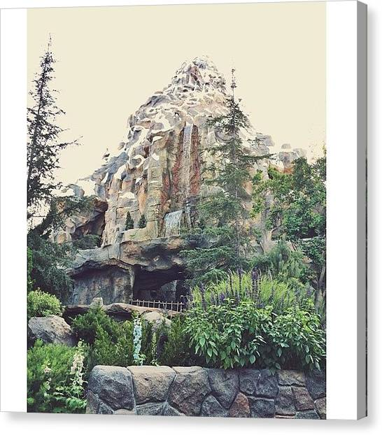 Matterhorn Canvas Print - Okay! Last One From My @disneyland by Sara Dye