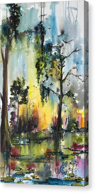 Okefenokee Forever Wetland Sunset Canvas Print
