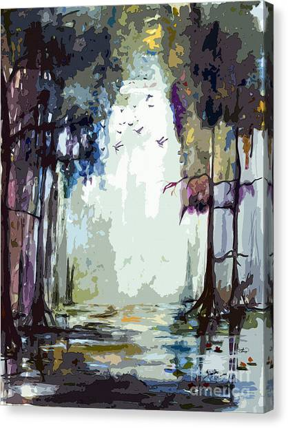 Okefenokee Canvas Print - Okefenokee Georgia Light At The End by Ginette Callaway