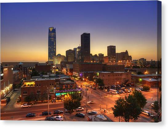Oklahoma City Nights Canvas Print