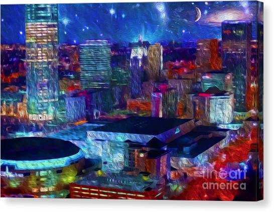 Oklahoma City Starry Night Canvas Print