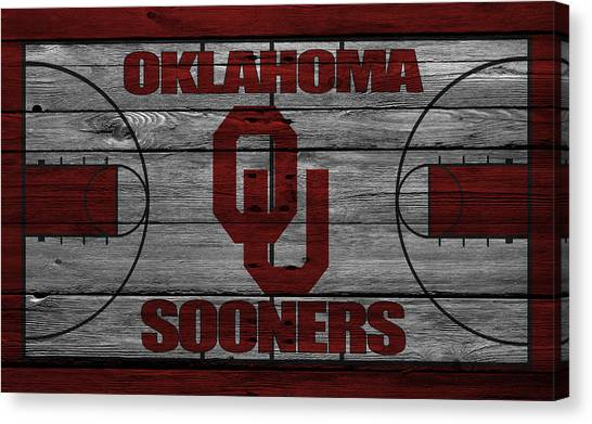 Ball State University Canvas Print - Oklahoma Sooners by Joe Hamilton