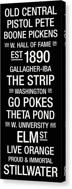 Oklahoma State University Canvas Print - Oklahoma State College Town Wall Art by Replay Photos