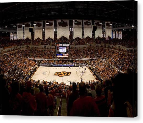 Oklahoma State University Canvas Print - Oklahoma State Cowboys Gallagher-iba Arena by Replay Photos
