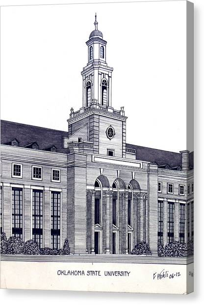 Oklahoma State University Canvas Print - Oklahoma State University by Frederic Kohli