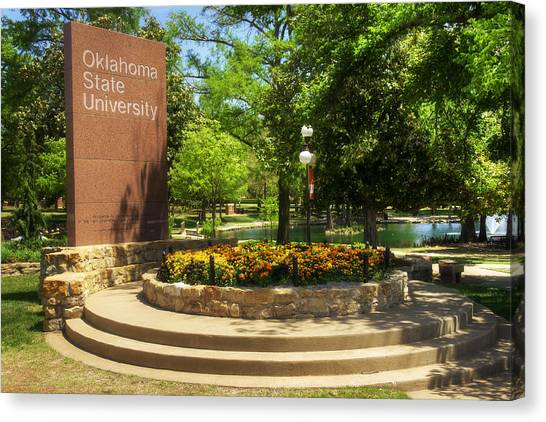 Oklahoma State University Canvas Print - Oklahoma State University by Ricky Barnard