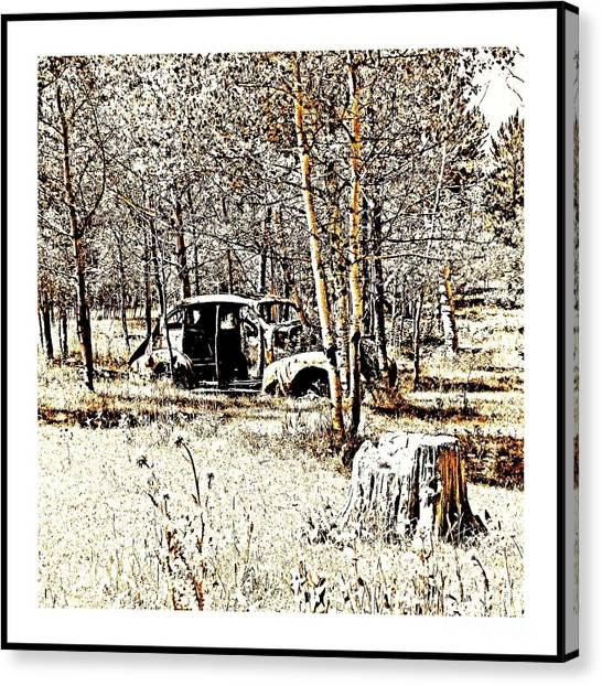 Ol Car Canvas Print
