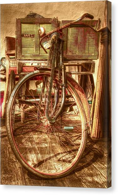 Fleas Canvas Print - Ol' Rusty Antique by Debra and Dave Vanderlaan