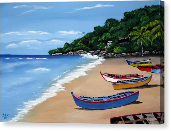 Olas De Crashboat Canvas Print