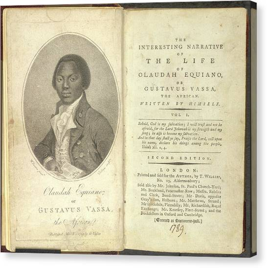Womens Rights Canvas Print - Olaudah Equiano by British Library