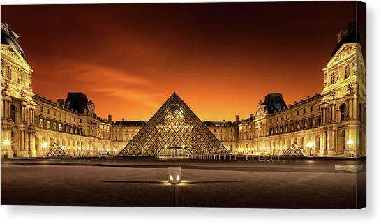 The Louvre Canvas Print - Old & New by Christophe Kiciak