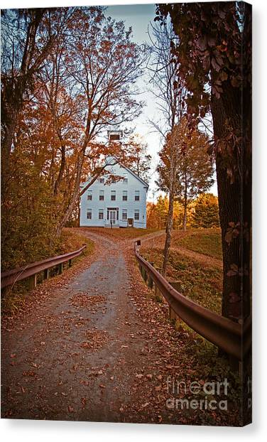 Driveway Canvas Print - Old Academy South Woodstock by Edward Fielding