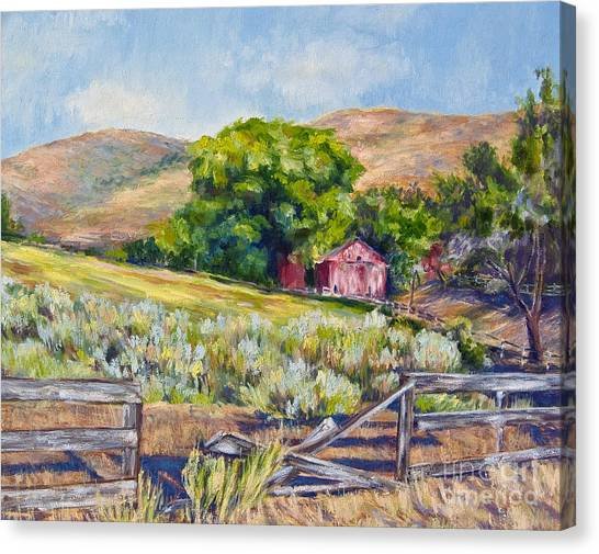 Old Almond Orchard Barn Painting By Laura Sapko