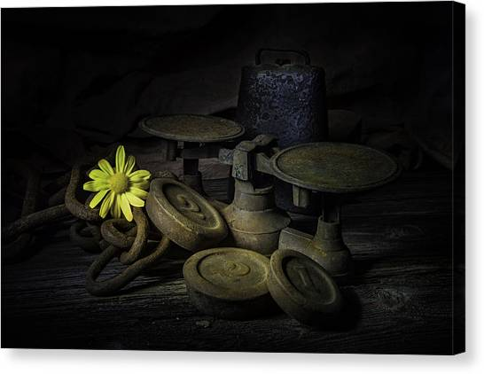 Weights Canvas Print - Old And Rusted Still Life by Tom Mc Nemar