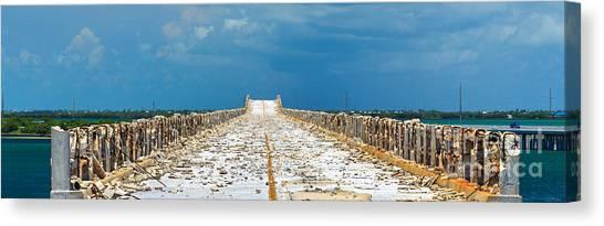 Old Bahia Honda Bridge Florida Keys Canvas Print