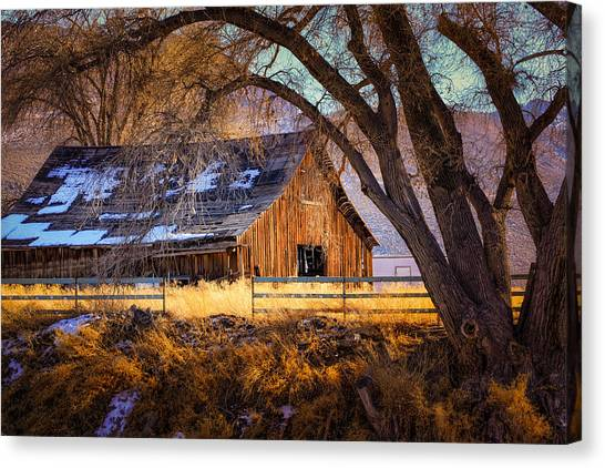 Old Barn In Sparks Canvas Print